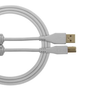 Kabel USB UDG Ultimate Audio Cable USB 2.0 A-B White Straight 1m (prosty)