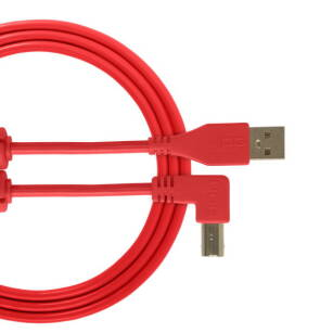 Kabel USB UDG Ultimate Audio Cable USB 2.0 A-B Red Angled 1m (łamany)