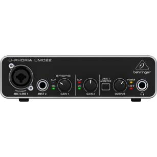 Behringer U-PHORIA UMC22 - interfejs audio USB 2x2