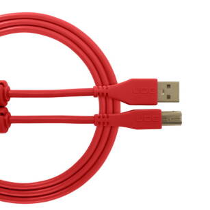 Kabel USB UDG Ultimate Audio Cable USB 2.0 A-B Red Straight 3m (prosty)