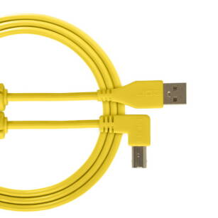 Kabel USB UDG Ultimate Audio Cable USB 2.0 A-B Yellow Angled 1m (łamany)